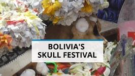 Bizarre Bolivia- Human Skulls Offered Coca Leaves