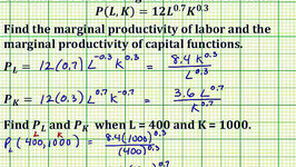 Ex: Find the Partial Derivatives of the Cobb Douglas Production Function