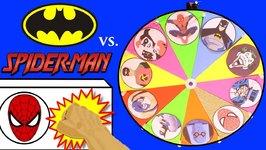 Batman Vs Spiderman SPINNING WHEEL GAME Surprise Toys, Superhero Slime Games For Kids