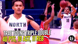 Trae Young Gets Saucey Nasty Triple Double in 3 Quarters