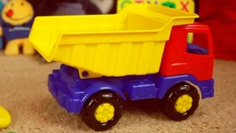 Children's Videos  Build A Color Pyramid For Kids Bear, Dog And Toy Truck