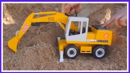 Sand Zoo   With Mofy The Giraffe , Toy Truck And Excavator