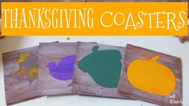 Thanksgiving Coasters DIY  Another Coaster Friday  Craft Klatch