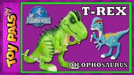 Jurassic World Tyrannosaurus Rex Plus Dilophosaurus Dinosaur Toys