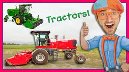 Tractor Videos for Children  Explore a Swather with Blippi