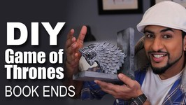Mad Stuff With Rob - How To Make Game Of Thrones Book Ends- DIY Craft