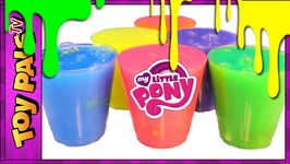 My Little Pony Clay Slime Surprise Toys Videos For Children MLP