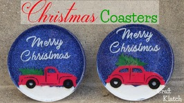 DIY Vintage Truck & Christmas Tree Coasters  Another Coaster Friday  Craft Klatch