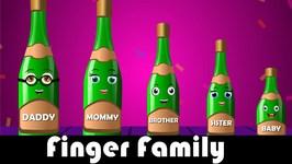 Five Green Bottles Finger Family  Finger Family Songs  Five Green Bottles Finger Family