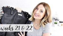 Twin Pregnancy Vlog Weeks 21 and 22 - Diaper Bag, Baby Kicks, Belly