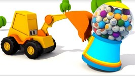 Cartoons For Kids  Excavator Max And Carousel  Domestic Animals  Kids Games And Animation For Kids