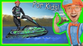 Boats for Kids with Blippi - Explore a Jet Ski
