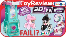 3DIT Girl Animal Creator FAIL 3D Molding Studio Maker Unboxing Toy Review
