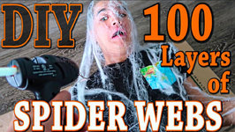 DIY 100 LAYERS OF SPIDER WEBS