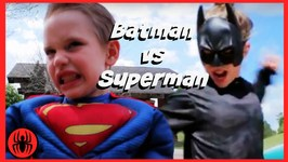 Batman Vs Superman Superheroes Battle In Real Life Movie  SuperHero Kids