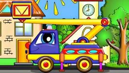 Cartoon  Hi-Up Truck Saves A Little Kitten  Car Cartoon And Cartoon For Kids