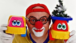 Car Clown's Christmas Tree Toy Truck Dance  Videos For Kids