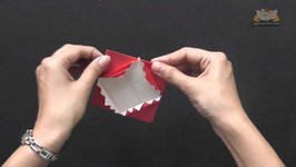 Origami - Lets Make a Pleated Box - Origami in Sindhi