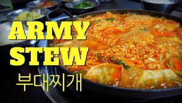 Budae Jjigae - Eating Korean Army Base Stew in Seoul, Korea