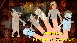 Mummy Finger Family  Finger Family Nursery Rhymes  Halloween Finger Family