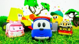 Cars And Trucks  Toys For Kids  Leo The Truck And Traffic Jam  Tayo, Robocar Roy, Amber And Poli