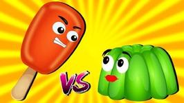 Ice Cream vs Jelly vs Cake Pop vs Donut Finger Family Songs - Nursery Rhymes and Songs