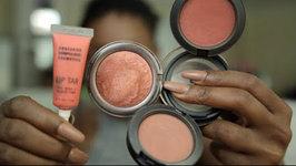 Fall Blush and Lipstick Combos - Dark Skin
