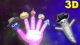 Funny Halloween Ghost Finger Family  Halloween Songs For Children In 3D