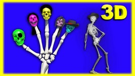 Crazy Skeleton Finger Family  Funny Finger Family Nursery Rhymes 3D