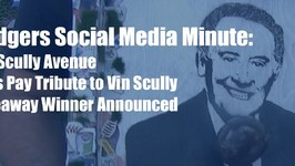 Dodgers Social Media Minute: Fans Pay Tribute to Vin Scully and Giveaway Winner Announced
