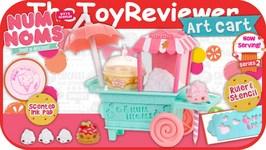Num Noms Art Cart Playset Stamper Eraser Scented Unboxing Toy Review