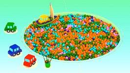 ball pit pool car fishing cartoon cars videos for kids cartoons for children kids cars cartoons video by ploopchannel fawesometv