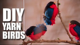 Mad Stuff With Rob - DIY Yarn Birds  Room Decor Ideas