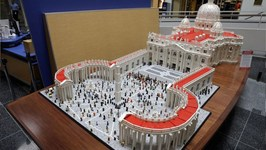 Reverend Builds 50,000 LEGO Vatican for Visiting Pope
