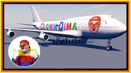 CRAZY CLOWN AIRLINES - Car Clown And Masha - YouTube Videos For Kids