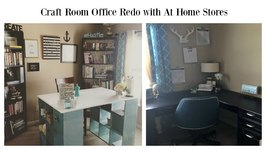 Home Office Craft Room Makeover with AtHomeStores ad