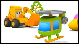 Toy Trucks   Surprise Egg Helicopter  Excavator Max - Playground Games