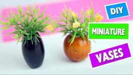 DIY Dollhouse Miniature Flower Vase & DIY Dollhouse Miniature Flower Vase Video by SimpleKidsCrafts ...
