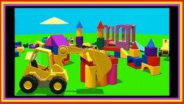 Building Block CITY Compilation Cartoon - Truck Cartoons For Kids  Kids Construction  Videos For Kids