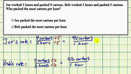 Ex: Determine a Unit Rate To Determine Who Works Faster