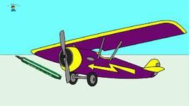 Rainbow Colors Book  Kids Learn Colours  Sports Aeroplane