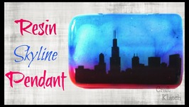 Resin Skyline Pendant DIY - Resin Crafts