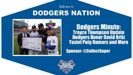 Dodgers Minute: Latest on Trayce Thompson, Dodgers Honor David Ortiz and More