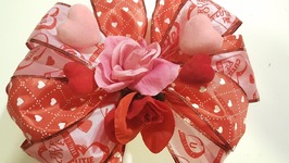 Double Gift Bow for Valentine's Day - Dollar Tree Crafts