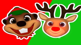 Santa's Number - 1 Reindeer - Sing Along to Baby Beavers Christmas Carols - Preschool Babies