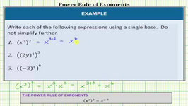 Simplify Expressions Using The Power Rule Of Exponents (Basic)