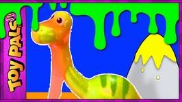 Dinosaur Slime Mountain  Dinosaur Toy Video With Gross Clay Slime Ooze