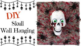 Dollar Store Skull Wall Hanging DIY- Craft Klatch Halloween Series