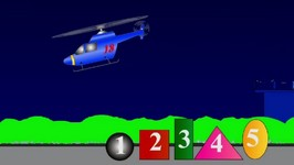 Counting Helicopter 1 - Count English Numbers 1 To 5 With Shapes