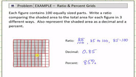 Use A Shaded 10 By 10 Grid To Write A Ratio, Decimal, And Percent